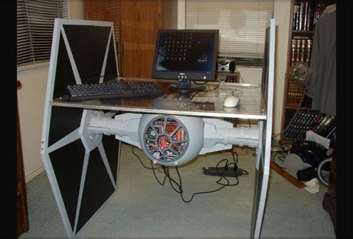 with this Star Wars TIE Fighter Desk and PC | Biology Of Technology