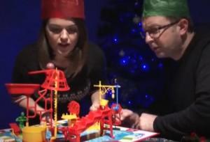 Holiday Rube Goldberg Amazing Machine from Vintage Toys on Biology of Technology