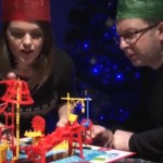 Holiday Rube Goldberg Amazing Machine from Vintage Toys on Biology of Technology