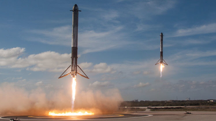 For SpaceX Launch, It's All About the Vertical Landing